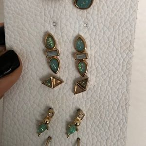 Free People Studded Earring Set in rose gold